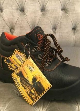 Рабочие безопасные кожаные туфли / ботинки защитная обувь