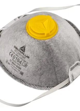 Противовирусная маска респиратор с клапаном угольный фильтр.