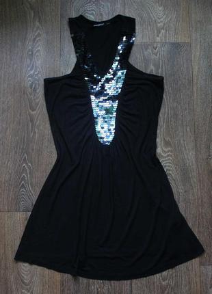 Платье сарафан туника от atmosphere  с пайетками