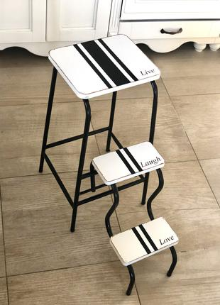 Трансформирующийся стул-стремянка для дома и сада