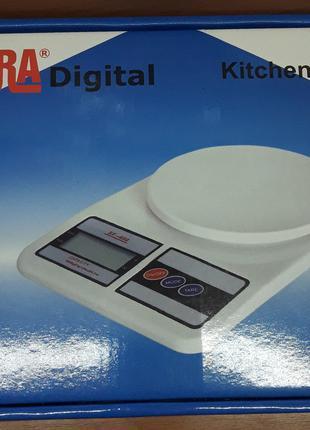 Весы кухонные электронные до 7кг, точность 1г, SF-400