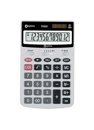 Калькулятор електронний Optima 12-розрядний (75502)
