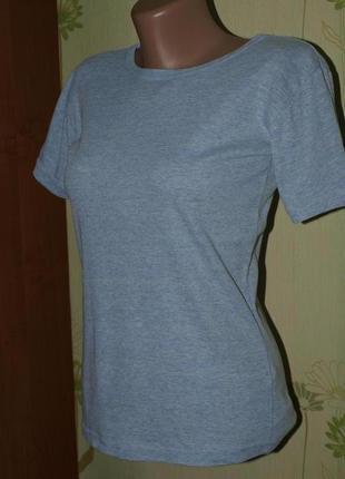 Мягкая футболка голубая xs