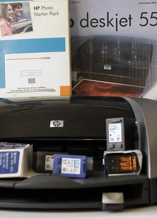 Принтер HP deskjet 5550, картриджи, фотобумага