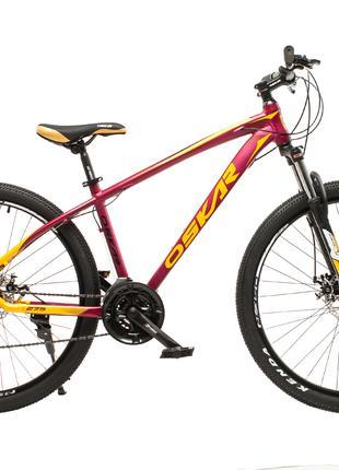 """Велосипед Oskar 27,5"""" М103 голубой и бордовый цвета"""