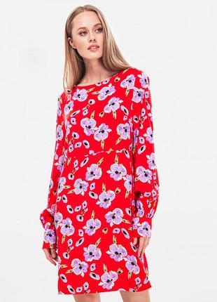 Платье цветочный принт из вискозы