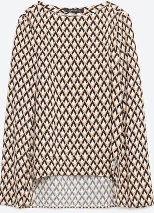 Блуза геометрический принт зара zara
