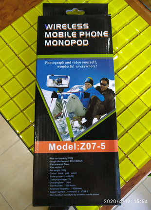 Selfie stick Bluetooth селфі палка безпровідна для iphone