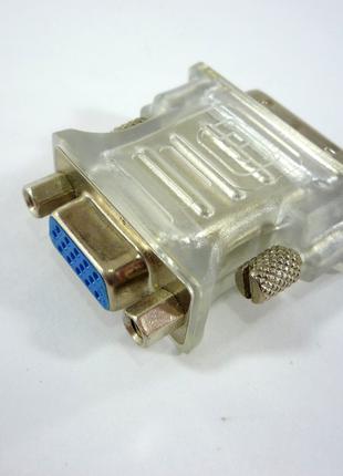 Перехідник DVI-I to VGA для підключення монітора