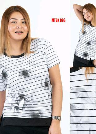 Необычная футболка блузочного плана SOGO