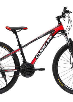 """Велосипед Oskar 26""""PIRANHA черно-красный"""
