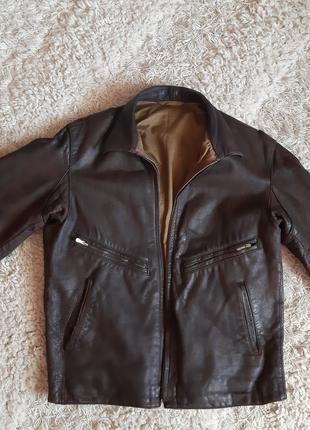 Продам летную винтажную мужскую кожаную куртку