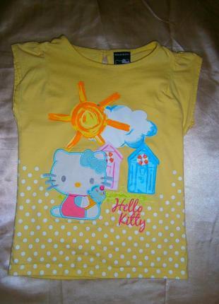 Детская футболка для девочки hello kitty
