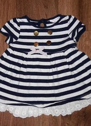 Красивое платье для девочки savanna baby на возраст 3-6 месяцев
