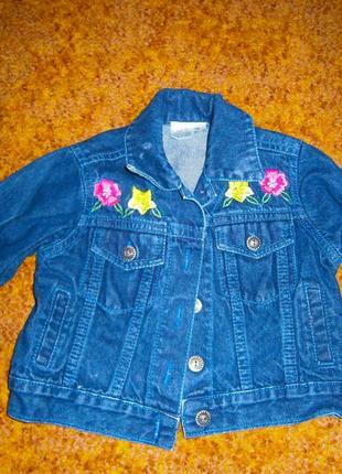 Джинсовая куртка на девочку!