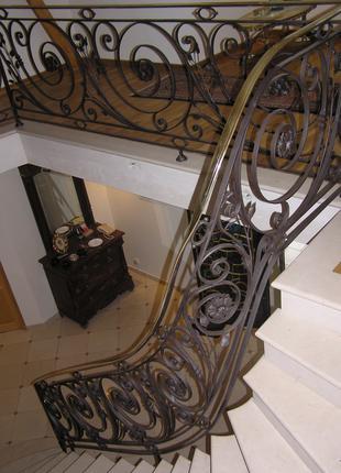 Ковані перила, кованые перила для лестниц