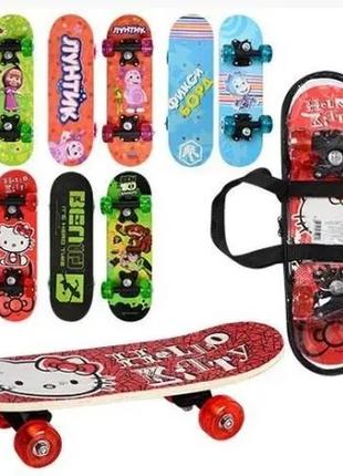 Крутой Детский Скейт Пенниборд PennyBord Светящийся колёса до 70
