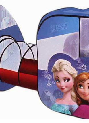 Детская игровая палатка-домик с тоннелем для девочки Frozen