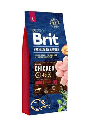 Корм для взрослых собак больших пород Brit Adult L (25-45 кг)