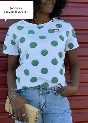 Женская футболка, размер 48