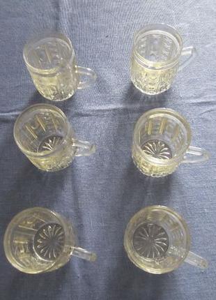 Кружки (чашки) стеклянные набор, 150 мл