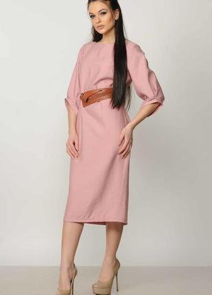 """Платье """"меган"""" + ремень розовый"""