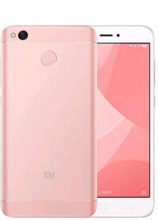 xiaomi redmi 4x 4/64gb pink gold в чехле книжке