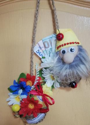 Лапти из джутовой нити-, сувенир в украинском стиле, старинный об