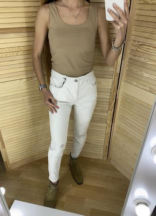 Белые джинсы скинни new look