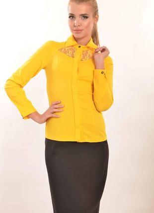 """Блуза """"джая"""" желтый"""
