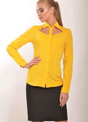 """Блуза """"рия"""" желтый"""