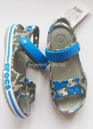 Детские сандалии крокс crocs baya sandal с7 - с13 голубые хакки