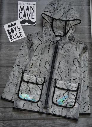Офигенная куртка плащ дождевик в динозаврах george 3-4года