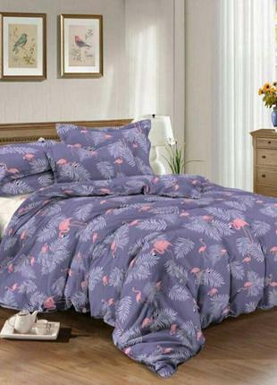 Двухспальный комплект постельного белья из бязи голд фламинго