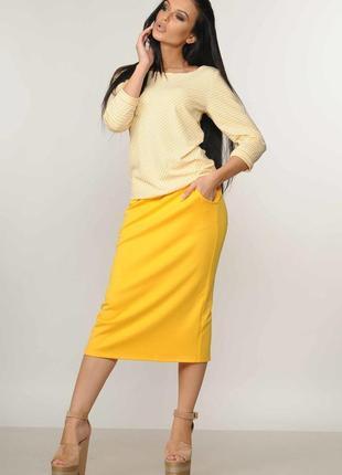 """Блуза """"ситти"""" желтый"""