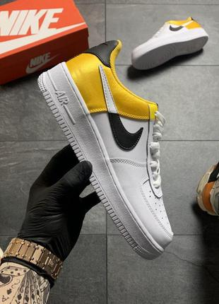 Nike air force low yellow white .