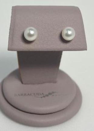 Серьги-пуссеты серебро с жемчугом