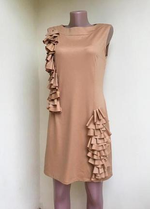 Платье 46 горчичного цвета
