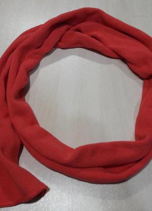 Длинный хлопковый шарф. с биркой(бонус при покупке)