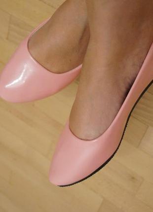 Нюдовые телесные балетки лаковые новые - 36-37 размер