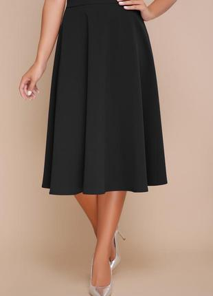 Классическая миди-юбка черный