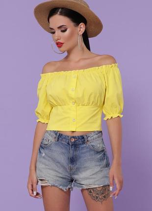 """Блуза """"янина"""" желтый"""
