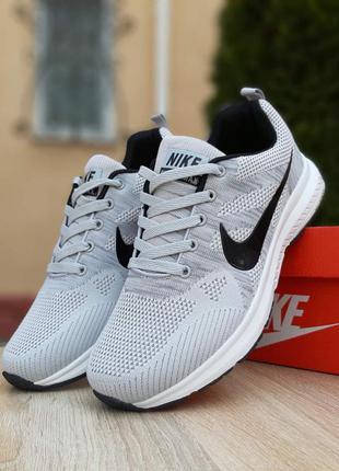 Nike zoom 🔺 мужские кроссовки найк зум серый/черный