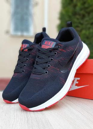 Nike zoom 🔺 мужские кроссовки найк зум черный/красный