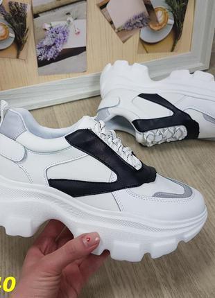 Высокие женские кроссовки  белые
