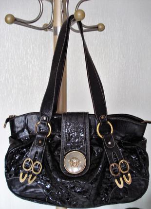 Очень стильная кожаная сумка шоппер, большая кожаная сумка, ко...