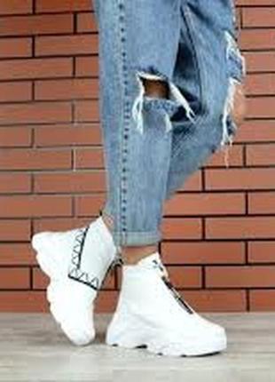 36 р теплющие кожаные на меху ботинки хайтопы