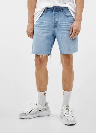 Джинсовые стильные шорты большого размера