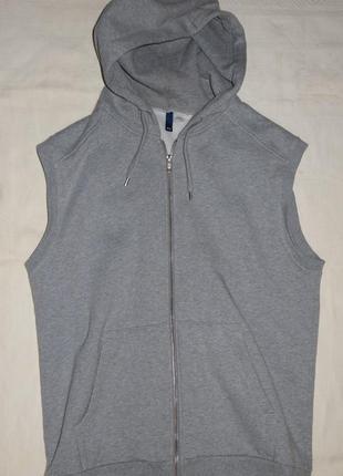 Куртка кенгурушка с капюшоном без рукавов h&m
