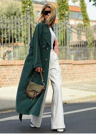Трендовые широкие клешеные брюки палаццо длинные кюлоты джинсы